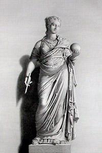 Покровительницу астрологии музу Уранию традиционно изображали с