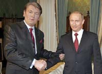 Путин и Ющенко обозначили общую позицию по Приднестровью