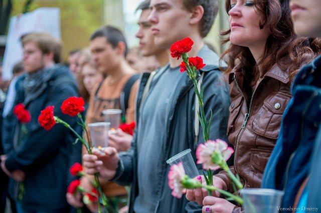 В Брюсселе почтили память жертв трагедии в Одессе