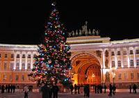 В Петербурге устанавливают первые новогодние елки