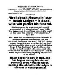 За что сатанисты умертвили Леджера?
