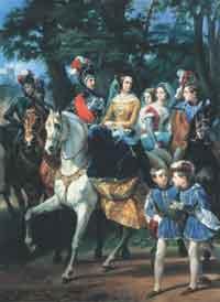Николай I представляет царскосельскую карусель