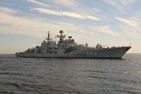 Под Калининградом горел противолодочный корабль