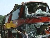 В Воронежской области двухэтажный автобус столкнулся с КамАЗом