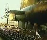 В Северодвинске выводят из эллинга атомный крейсер «Юрий