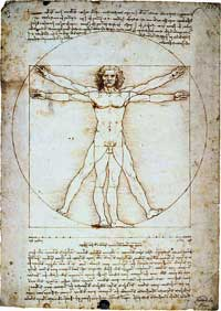 Витрувианский человек — знаменитый рисунок, сопровождаемый