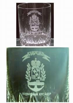 Точная копия хрустального стакана с
