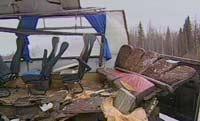 Водитель автокрана пытался избежать аварии