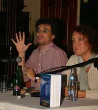 Альберт Санчес Пиньоль и его переводчица на русский язык Нина
