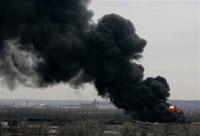 В США не могут справиться с огнём за химзаводе