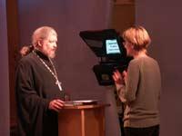 Отец Алексий Уминский - подготовка к эфиру