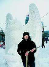 Завершился VII Сибирский фестиваль снежной скульптуры