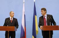 Ющенко предлагает Путину 10-дневную заморозку цен на газ