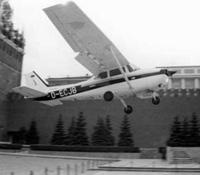 Самолет Cessna 172 на Красной Площади. 28 мая 1987 г.