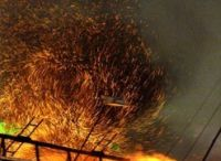 Здание Минюста Армении сгорело почти дотла