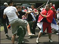 Хорватско-сербская ненависть выплеснулась на корт