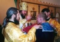 В храме штаба ЛенВО прошло богослужение по случаю Сретения