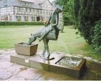 Памятник в родном городе барона