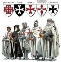 Рыцари разных военно-монашеских орденов