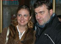 с женой Ольгой