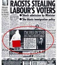 Британский таблоид «Сан» опубликовал маленькую черно-белую