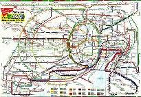 Схема токийского метро