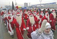 Деды Морозы и Снегурочки пройдут парадом по Бишкеку