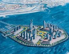 Каплевидная форма островов позволит снизить воздействие на процессы перемещения песчаных масс