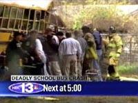 В США автобус со школьниками упал с эстакады