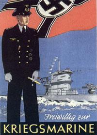 Плакат, призывающий к добровольному поступлению в ВМФ Третьего