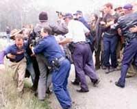 Вместо баскетбольных фанатов полиция занялась бойней пожилых