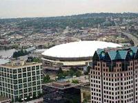 Крыша олимпийского стадиона не выдержала метели