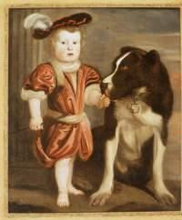 Портрет мальчика с собакой. 1674 г. Адриан Корнелис Белдмакер