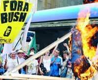 Бразилия встретила Буша массовыми беспорядками