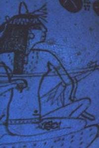 Музыкантша. Фрагмент ритуального блюда. Фаянс. 13-12 вв. до н.э.