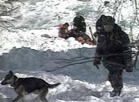 В Приэльбрусье после снежной лавины пропали три лыжника