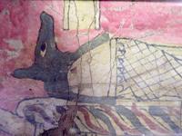 Умерший в облике Анубиса, плывущего на ладье. Фрагмент росписи