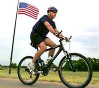 Буш «показал класс» на велосипеде
