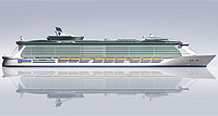 Новый лайнер длиной 360 метров с библейским названием