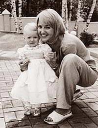 Юля с дочкой