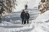 Полицейские на лыжах охраняют польские курорты