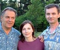 Станислав Гроф с русскими учениками – Кристиной и Владимиром