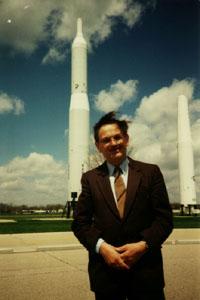 А.Болонкин на главной базе ВВС США в Детройте