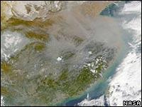 Коричневые облака. Вид из космоса. NASA