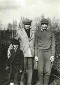 К.К.Рокоссовский с внуками