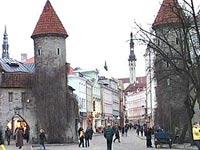 На Эстонию пролился