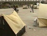 В Киргизии оппозиция разбила палаточный городок
