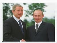 Путин и Буш встретятся дважды подряд