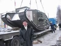 На российской верфи взвесили английский танк