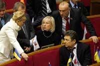 Тимошенко сорвала открытие парламентской сессии